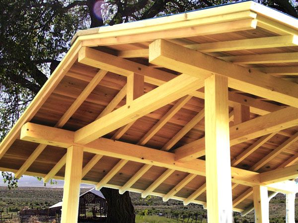 Pretty Gazebo With Japanese Carpentry From Ward Wilcox In The Greenwood Area Of Seattle Http Www W Japanese Carpentry Timber Frame Joinery Japanese Joinery