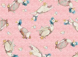 soft cotton jersey baby babies bib jemima puddle duck peter rabbit blue pink