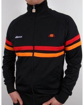 70ed3be73 Ellesse Rimini Track Top Black Red Orange