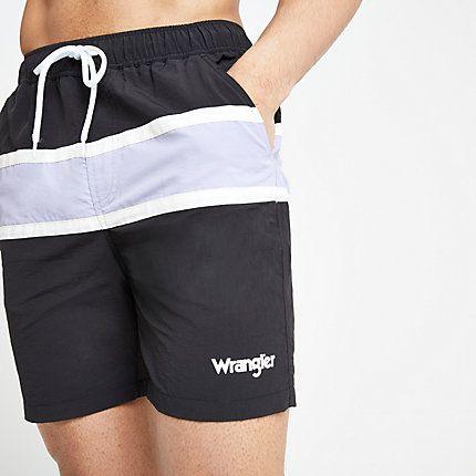 a9c10c556f877 Mens Wrangler Black stripe swim shorts in 2019 | Products | Swim ...