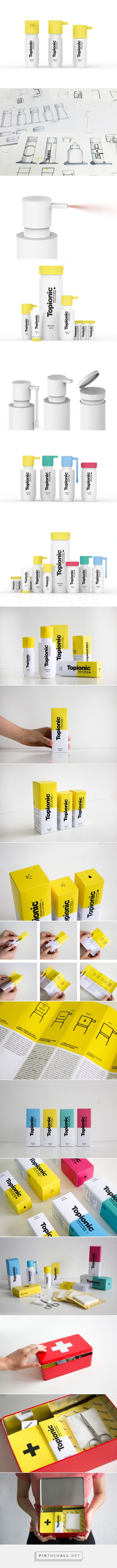 Topionic - student concept disinfectant #packaging designed by Barbara Gonzalez, Laura Planas, Mireia Ordeix, Laura Aguilar Casado