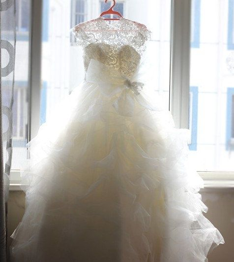 Vera Wang Inspired Lace Tulle Wedding Dress Bridal Gown