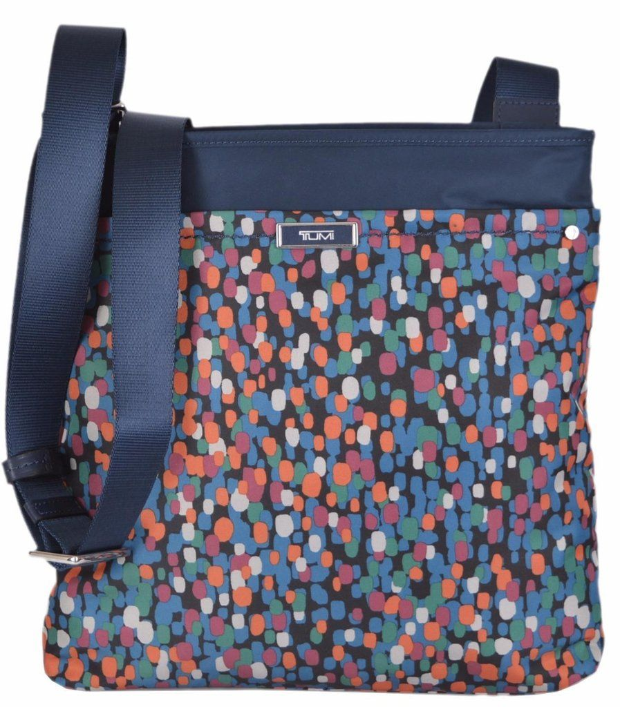 New Tumi 481987 Devon Brushed Dot Nylon Crossbody Purse Messenger Day Bag 10a3722704b94