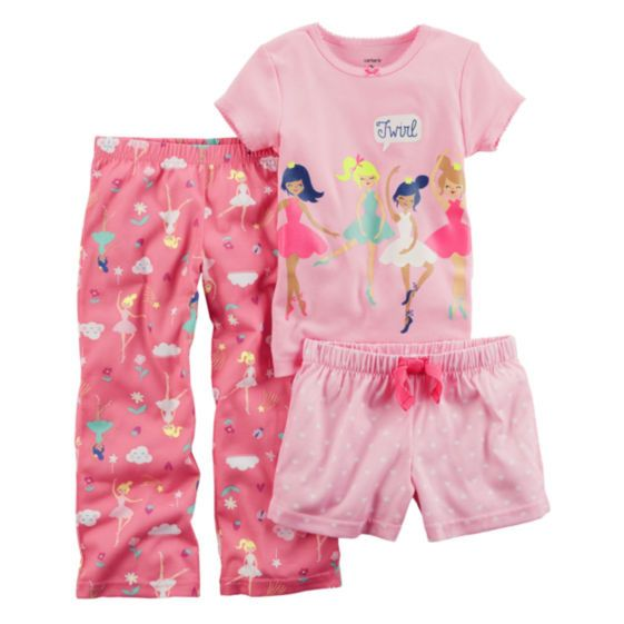530d64ab3 Carters Baby Girls 3 Piece Pajama Set Size 18 MO 24 MO NWT Pink ...