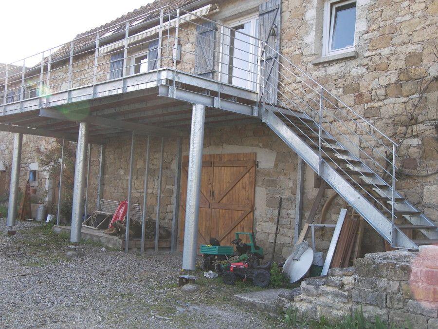Terrasse Et Escalier   Acier Galvanisé Idees Impressionnantes