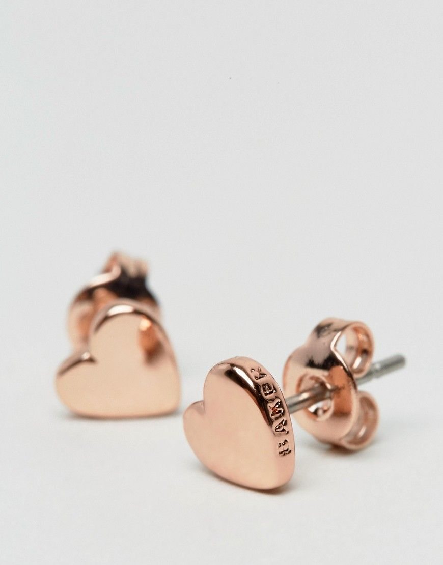 928c825a244e4 TED BAKER HARLY TINY HEART STUD EARRINGS - GOLD. #tedbaker # | Ted ...