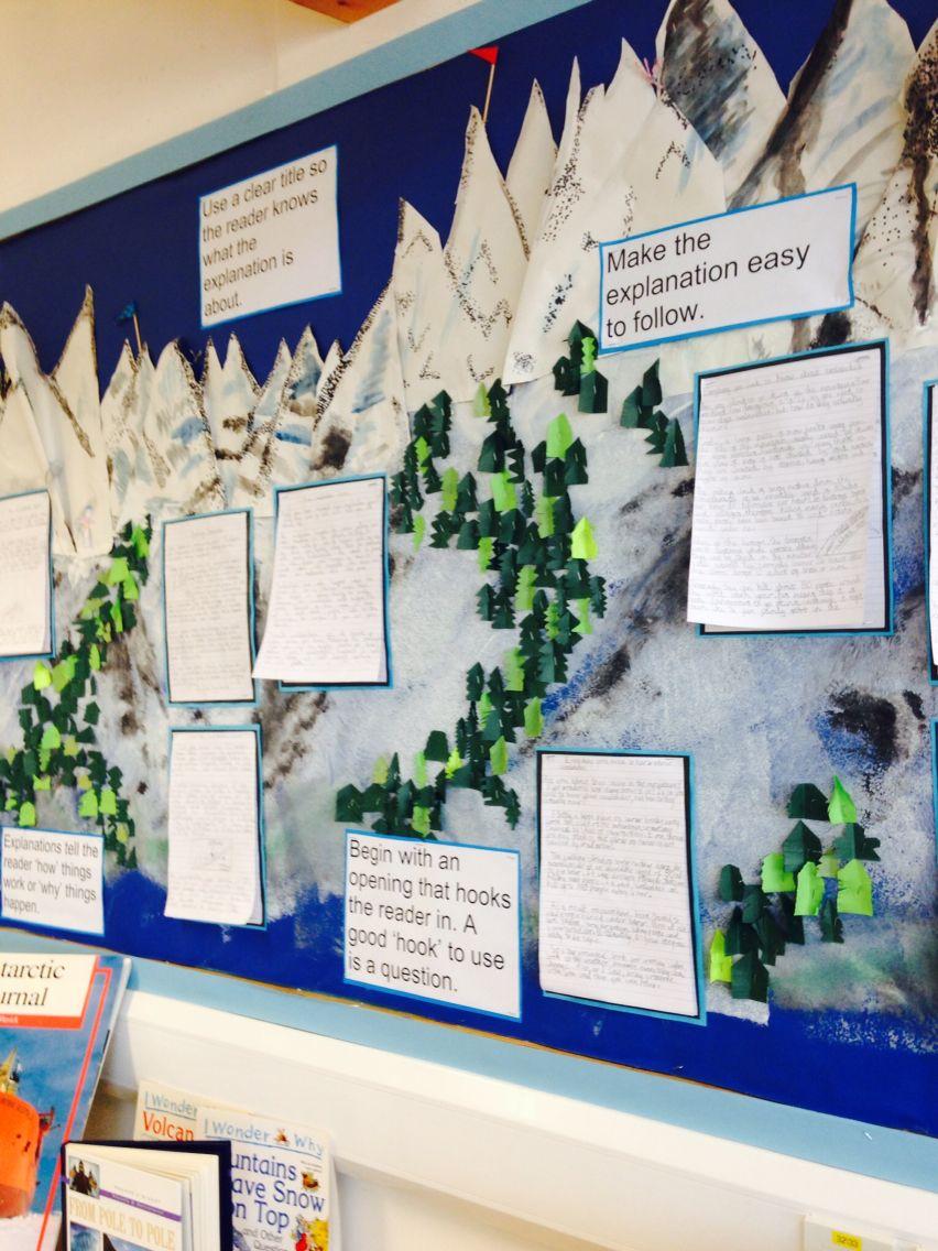 Classroom Ideas Display ~ Mountain topic display classroom ideas pinterest