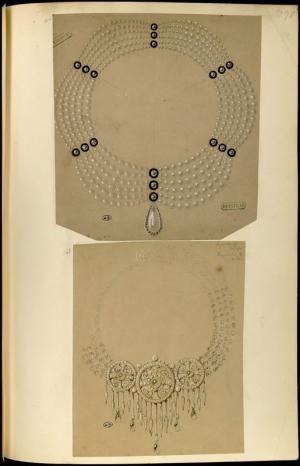 [Deux modèles de colliers] | Centre de documentation des musées - Les Arts Décoratifs