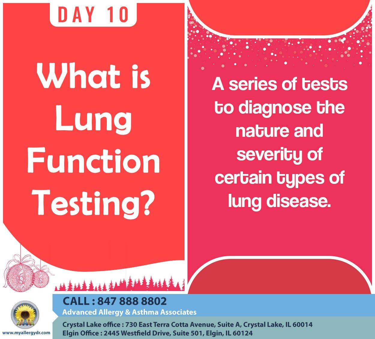 On The 10th Day Of Christmas My Allergist Told Me About Lung Function Testing Christmas Xmas 12daysofchristmas Allergies Allergy Symptoms Allergy Asthma