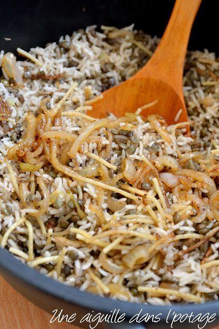 Kosheri (riz et lentilles) de Yotam Ottolenghi