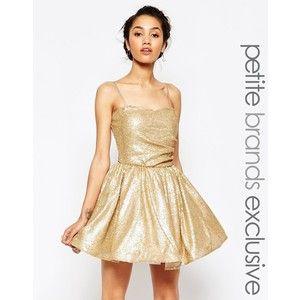 Maya Petite Sequin Prom Dress