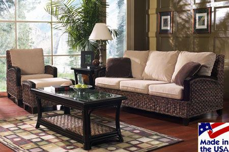 Rattan & Wicker Furniture Made in the USA. Choose from living room ...