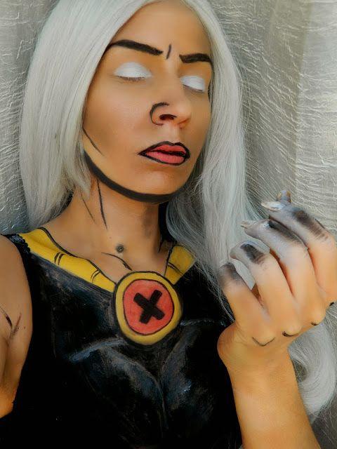 Comics série  Tornade makeup marvel comicsmakeup xmen storm