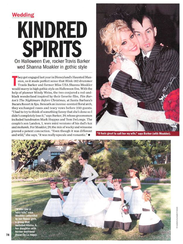Travis Barker And Second Wife Shanna Moakler Had A Nightmare Before Christmas Themed Wedding On