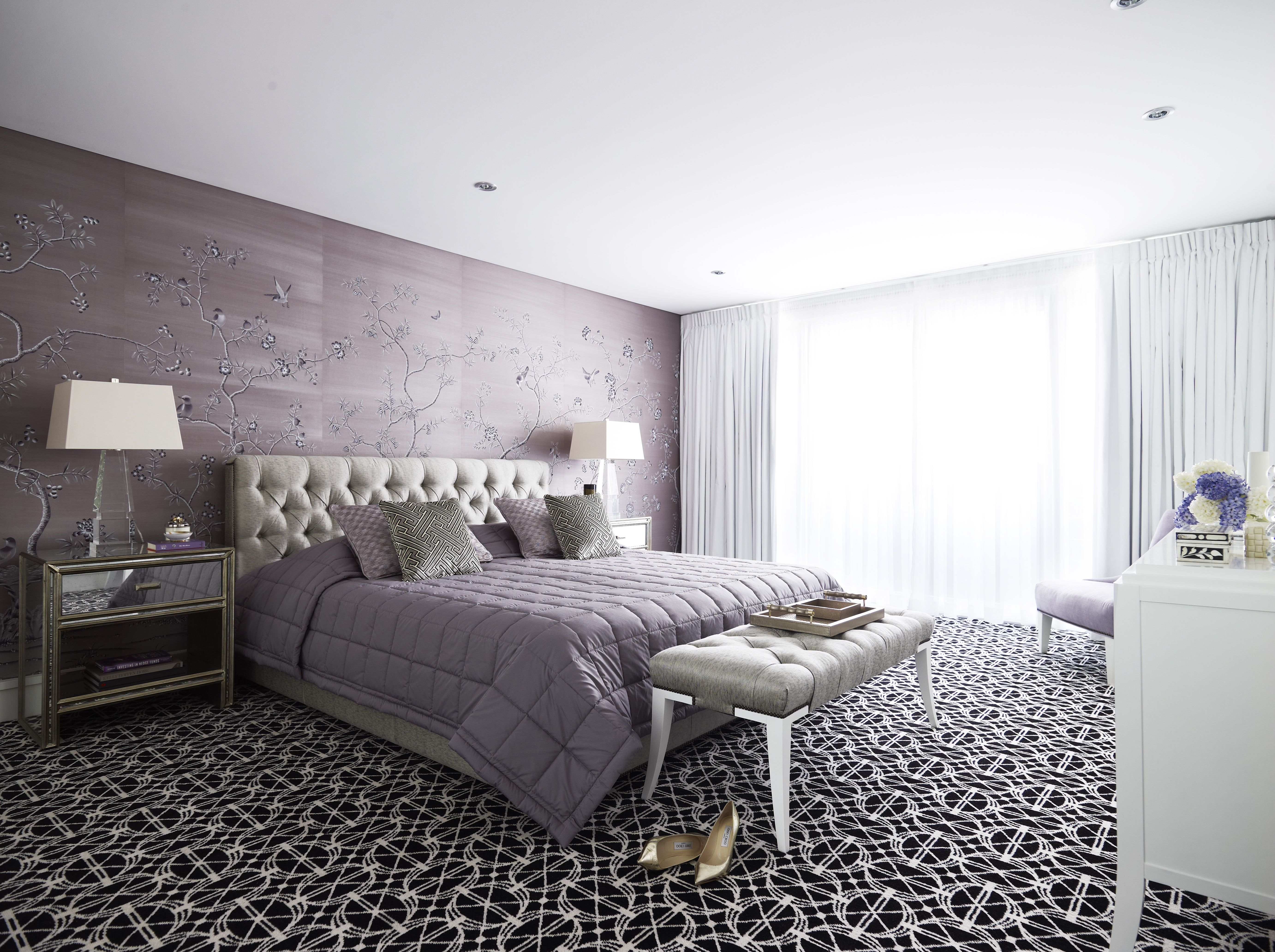 Bedroom Design By Greg Natale Bedspread Bedhead And Cushions By - B q bedroom designs