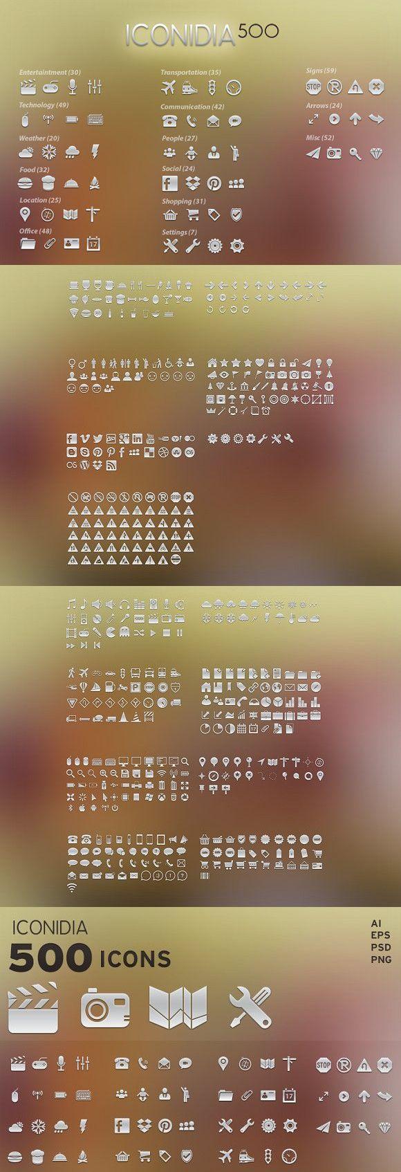 500 Icons Iconidia Icon, App development, Weather icons