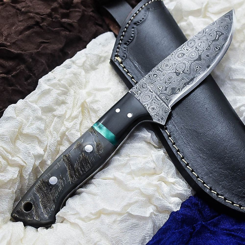 Alonzo knives usa custom handmade damascus tactical hunting knife