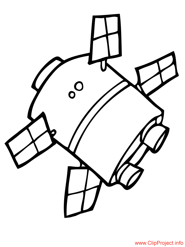 Small Space Satellite Coloring Pages For Kids Activite Enfant Enfant