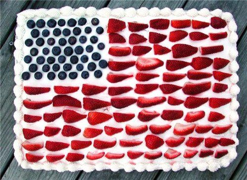 Red white & blue flag cake recipe: Memorial Day, 4th of July and Labor Day - Providence Food | Examiner.com