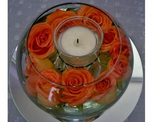 Centro de mesa para boda con velas dise o floral alison for Mesas de centro de diseno