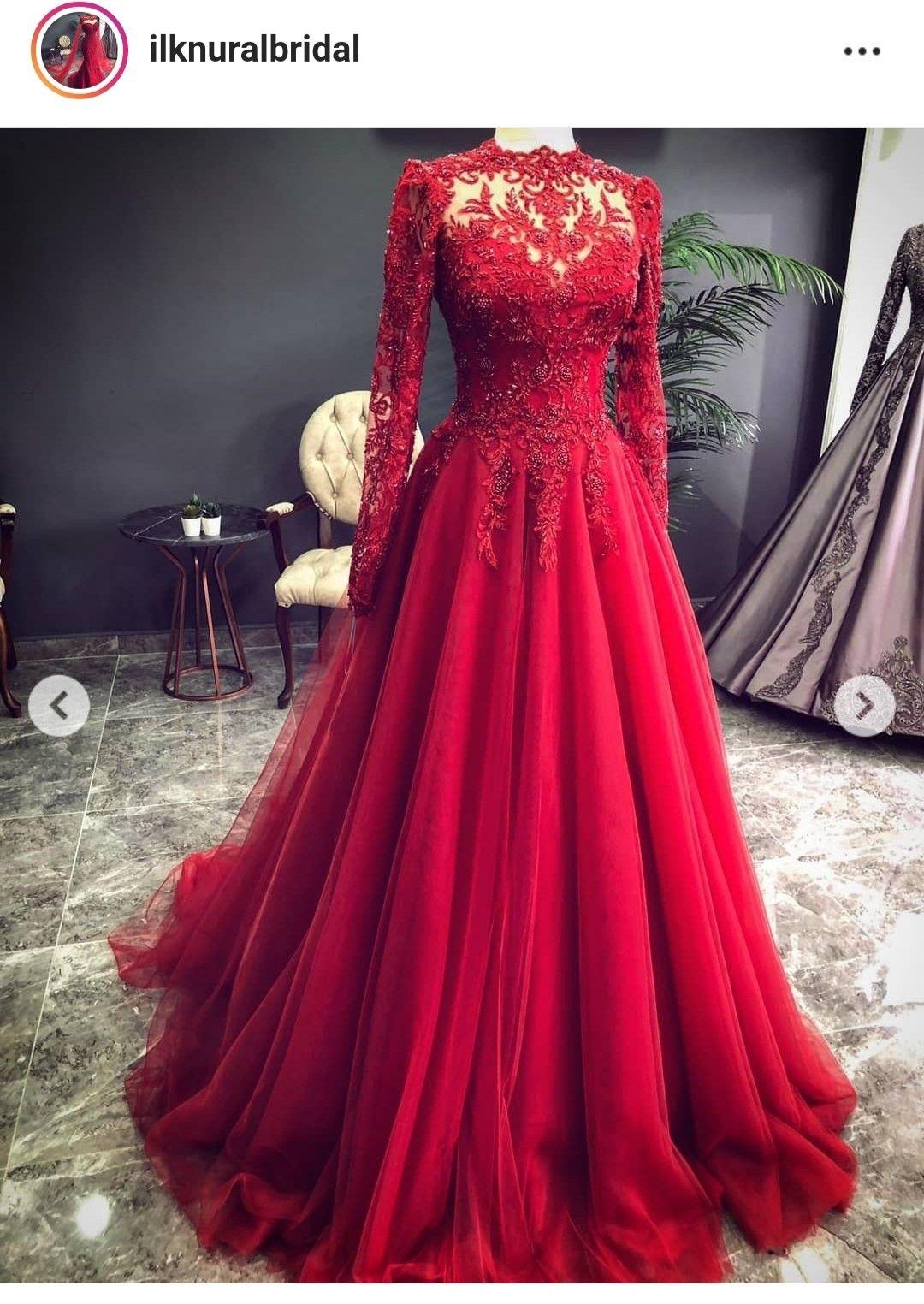 Pin By Nishat Farha On đầm Cưới 2019 Red Bridal Gown Tulle Prom Dress Red Wedding Dresses