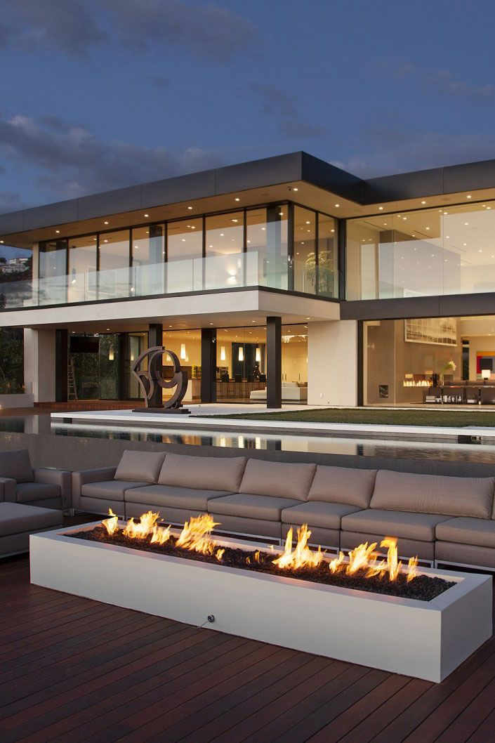 Great Fire Pit Landscapes Sunset Strip, Glass House Design, Modern Glass  House, Modern