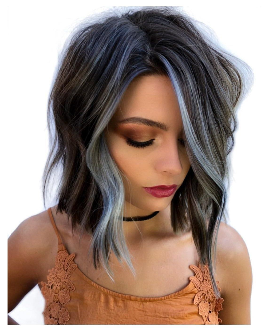 Mika Rogerson On Instagram Don T Be Blue It S Friyay Color Deets New Redken Co In 2020 Short Hair Balayage Short Hair Styles Hair Highlights