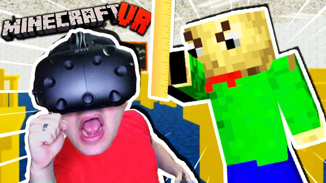 Can We Escape Baldi S School In Vr Minecraft Baldi S Basics