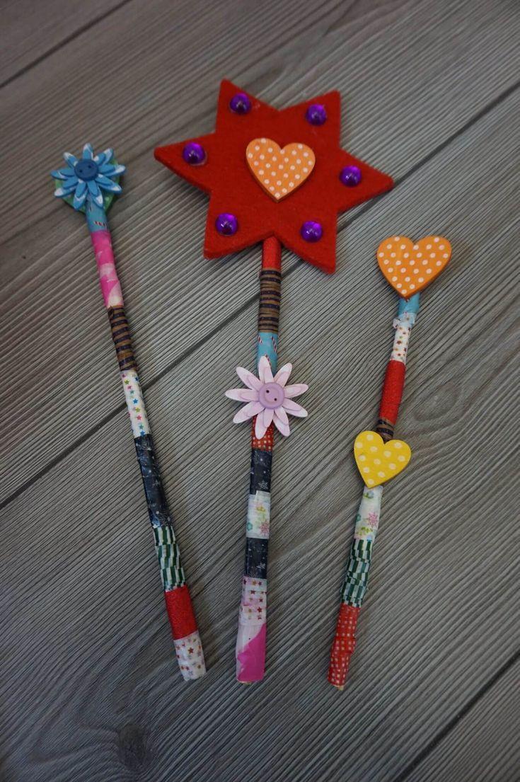 DIY Zauberstab - Basteln mit Kindern — Familie Auf und Davon