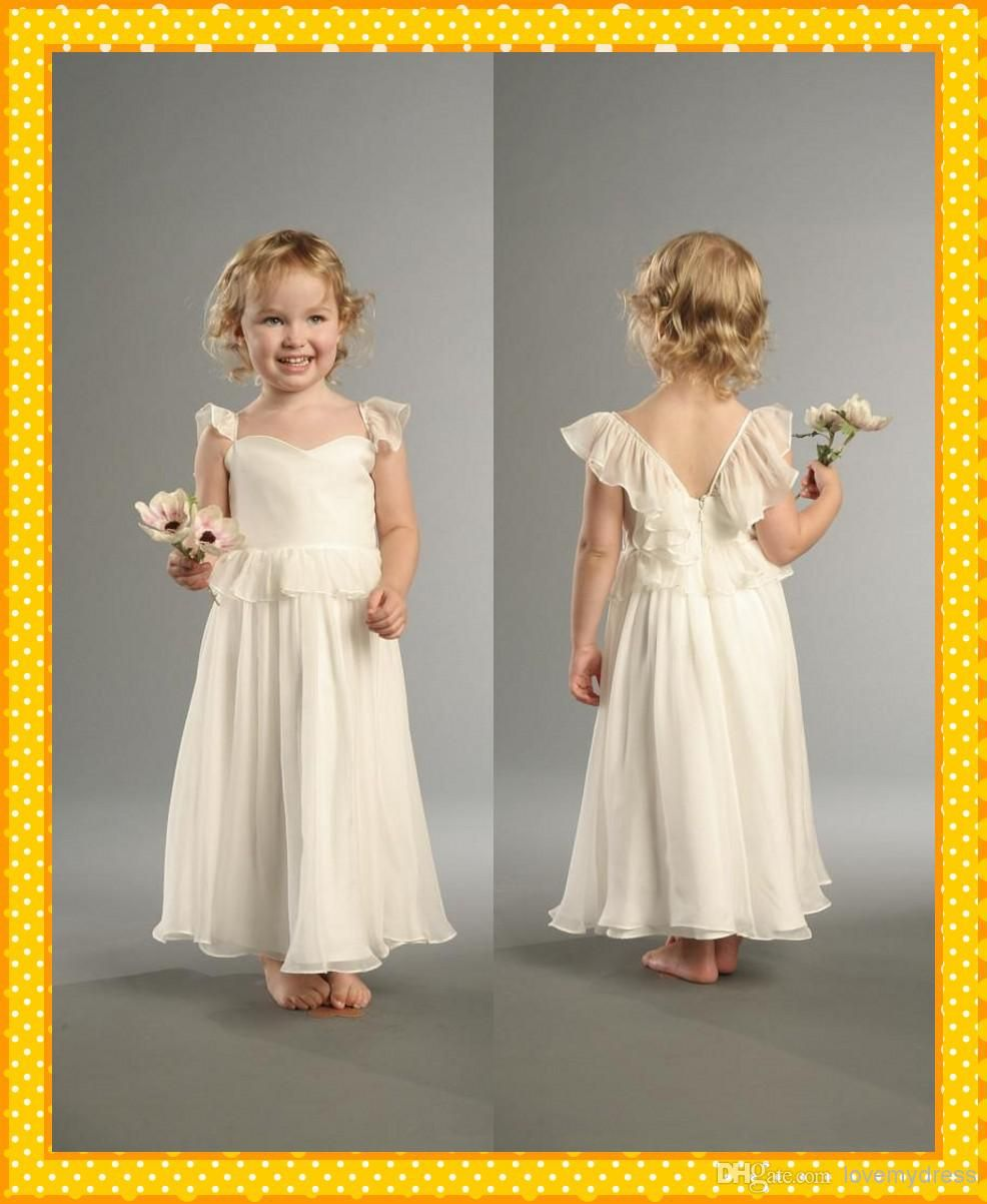Fashion Simple Princess Dress Child Floor Length Girls Cute Flower ...