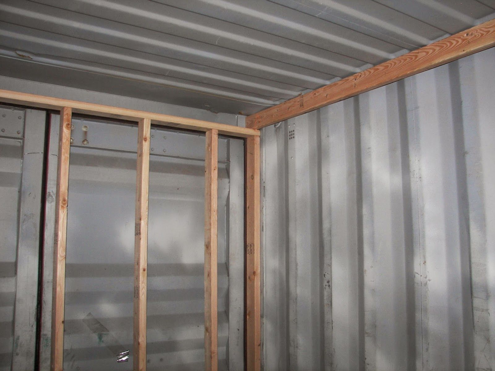 sea, shipping container cabin, shelter, home: framing and