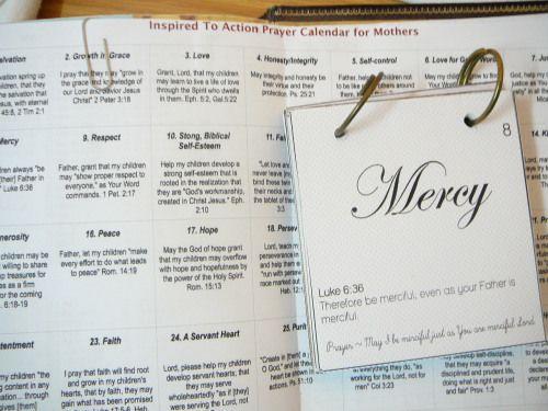Scripture Prayer Calendar Child, Bible and Scriptures