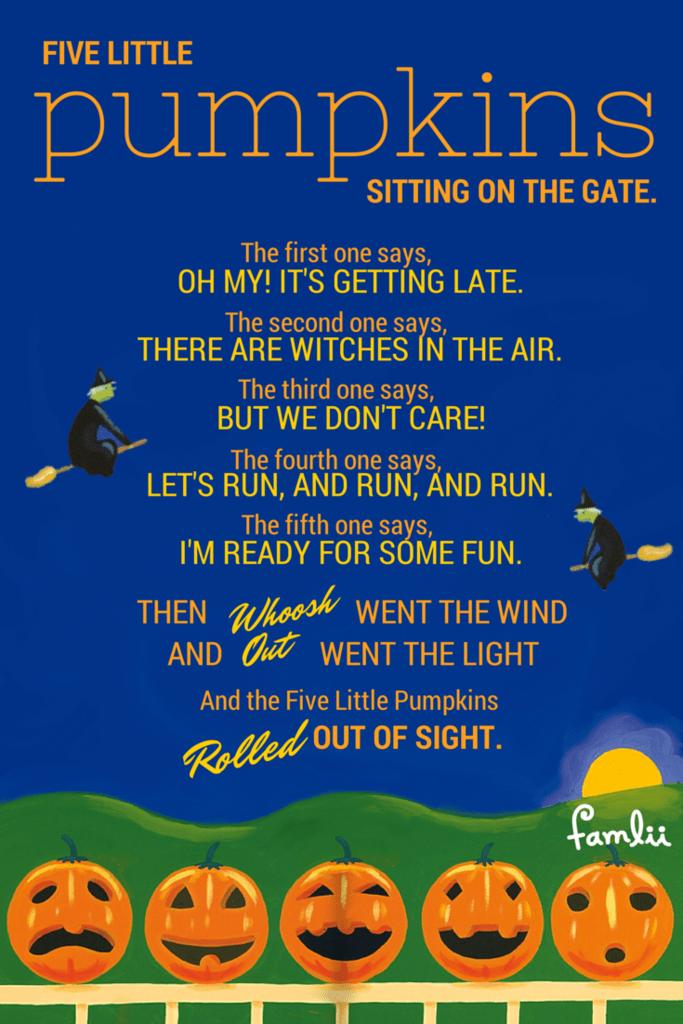 Five Little Pumpkins - Quintessential Halloween Poems for Preschoolers - Famlii