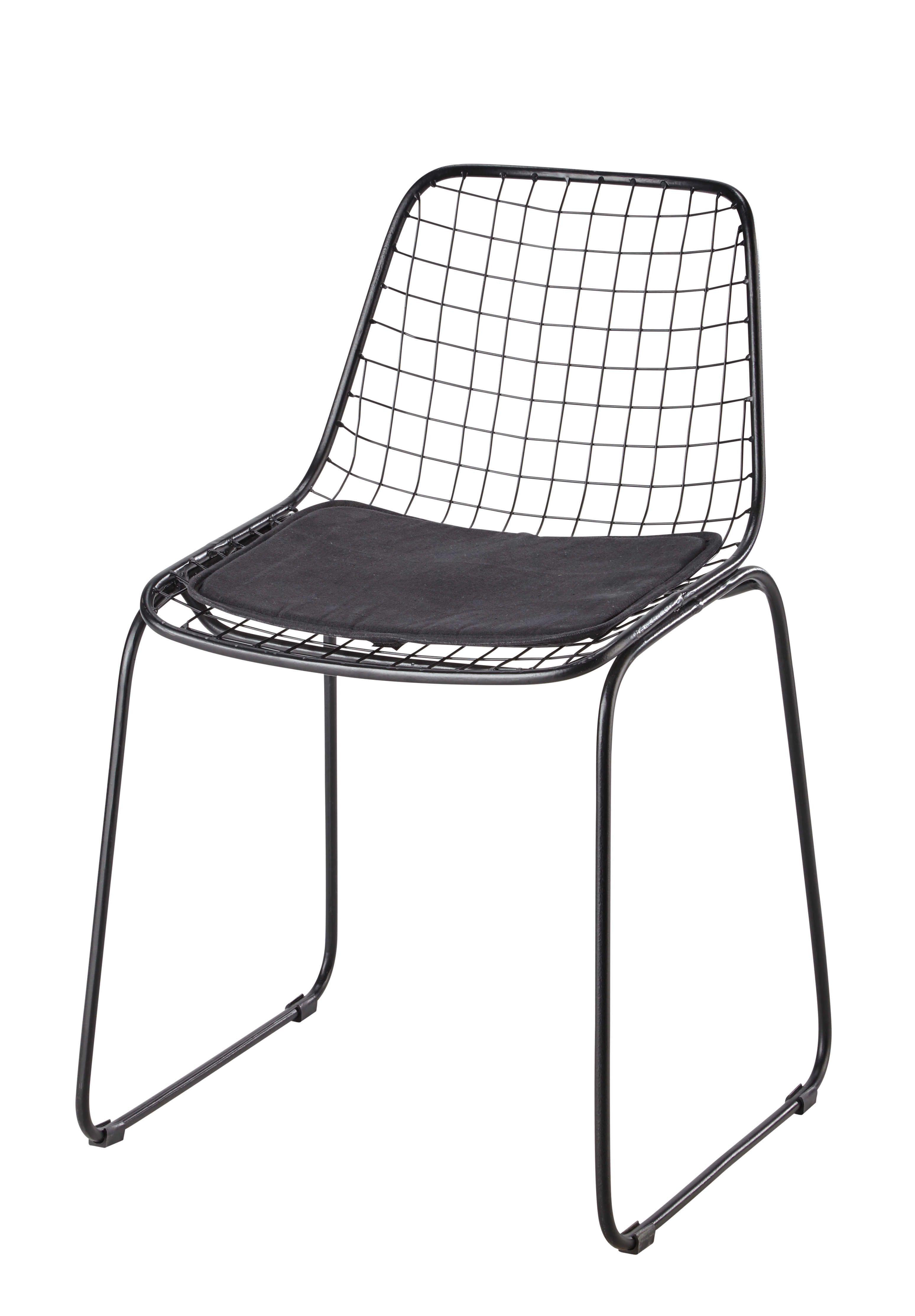 Metal Chair In Black Picpus