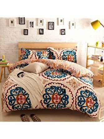 Newrara Home Textile,boho Bedding Set,bohemia Exotic Bedding Set,4pcs  Bedding Set