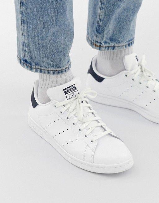 adidas Originals Herren Stan Smith Leather Turnschuh, Weiß