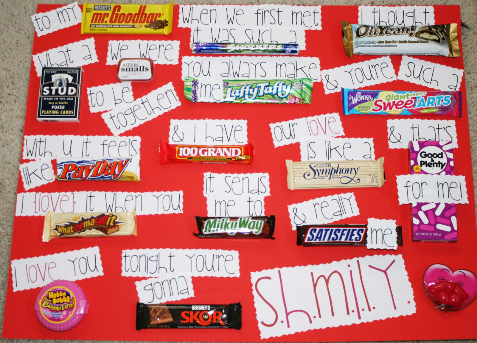 Candygram Card A perfect gift for Valentines Day – Valentine Card Ideas with Candy