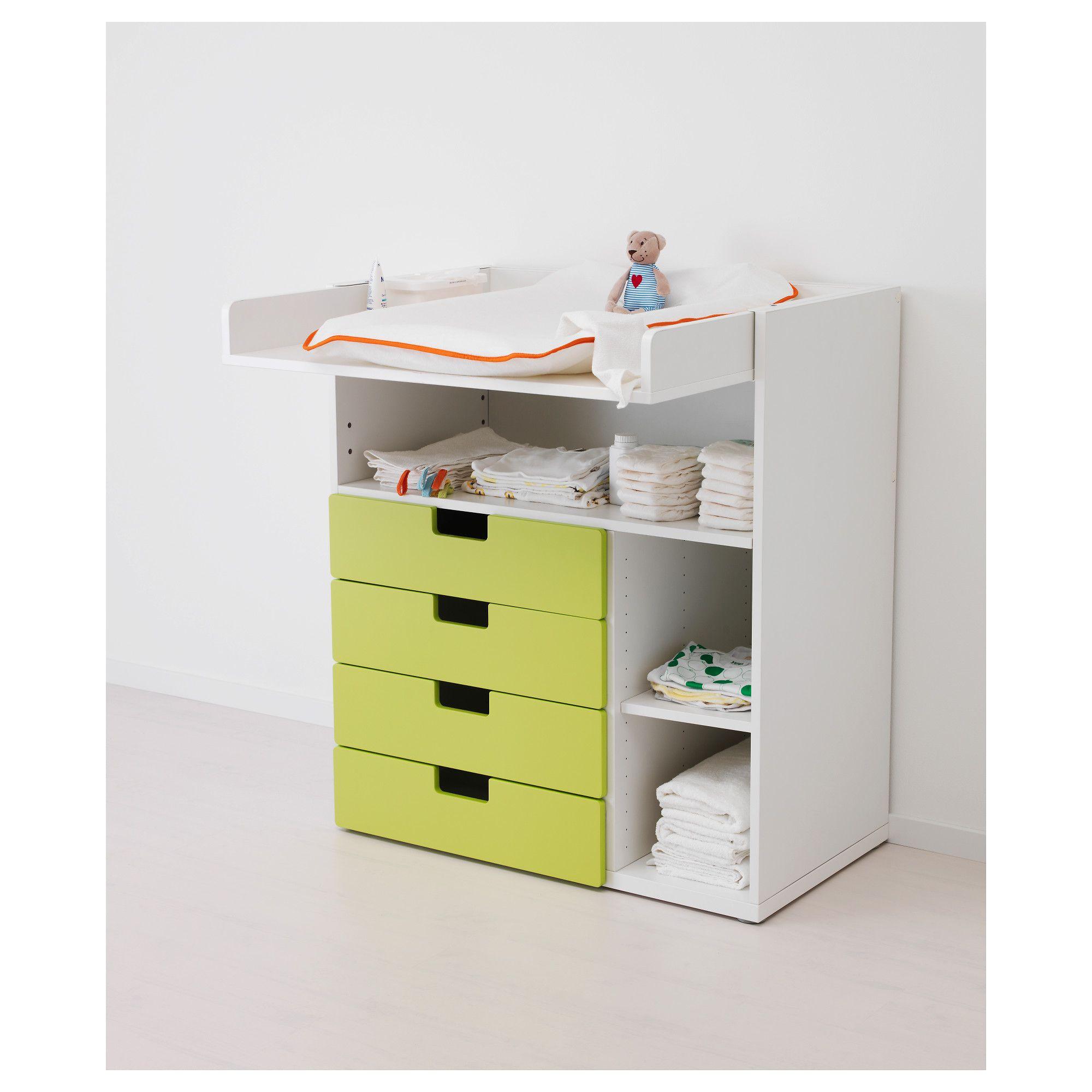 55d0d02a6163 STUVA маса за повиване/бюро, бяло, Маси за повиване и грижи за ...