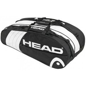 Head Core Combi Tennis Bag Black White By Wilson 34 25 Dimensions L X H X W 29 X 11 X 12 In Large Main Compartment And Racquet Compartment Tenis