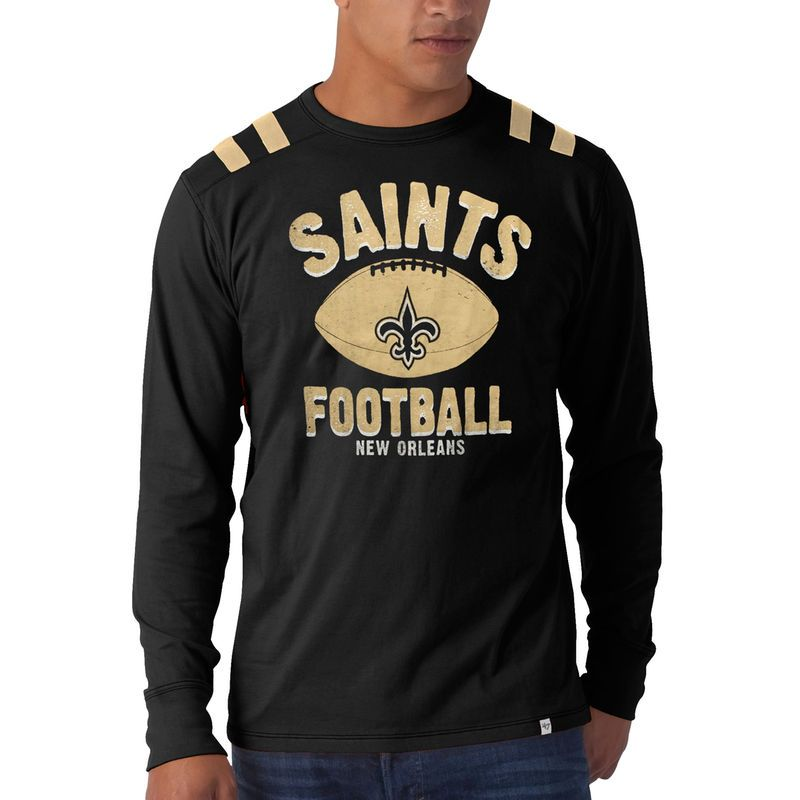 5102fb165 New Orleans Saints  47 Brand Bruiser Long Sleeve T-Shirt - Black ...