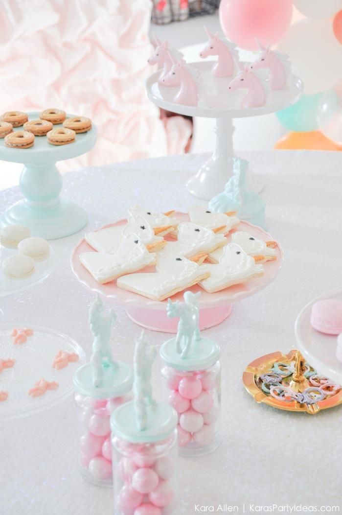 Unicorn themed birthday party by Karas Party Ideas Kara Allen