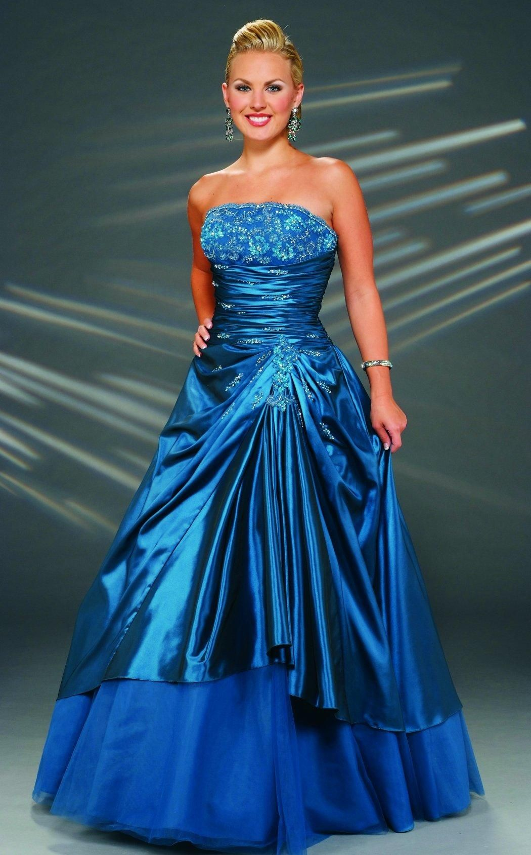 Image detail for beaded iridescent taffeta tulle gown