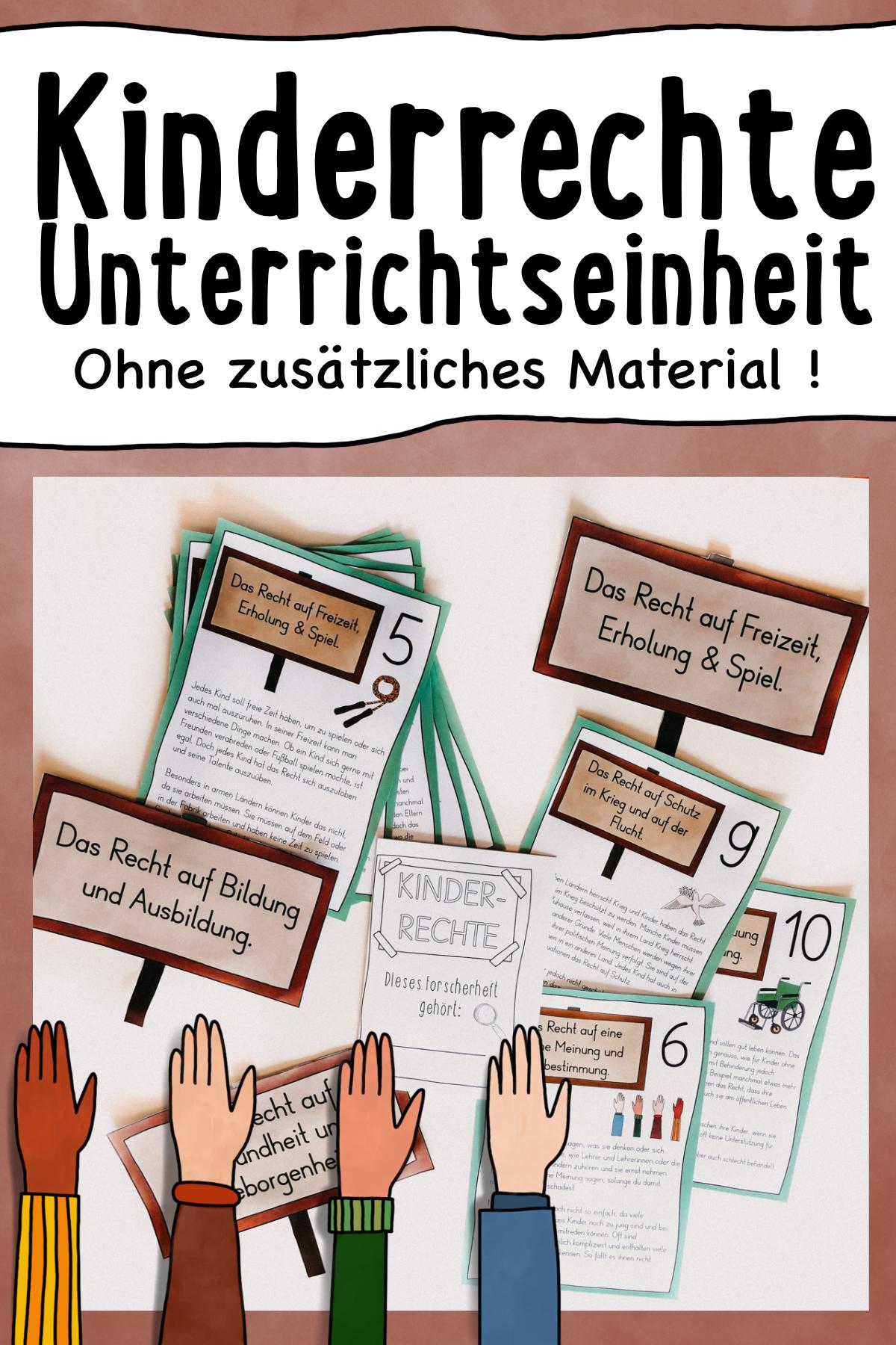Kinderrechte   Materialpaket mit Forscherheft, Stationen ...