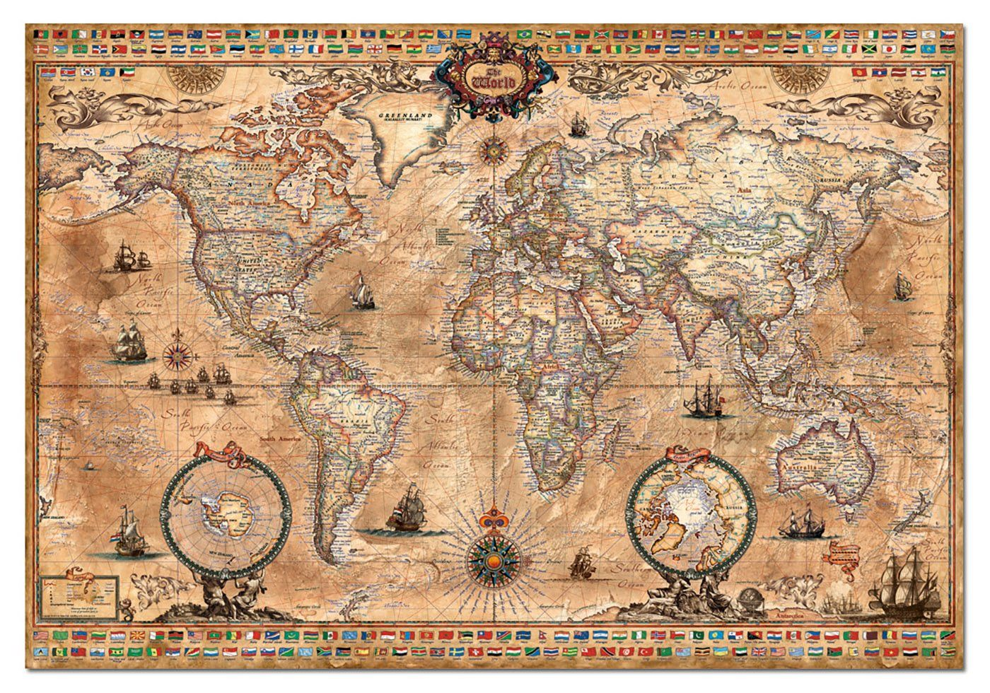 Old World Map Jigsaw Puzzle Antique World Map World Map