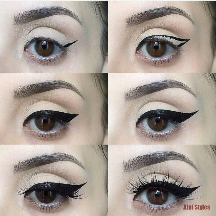 Brows on fleek 😍 ❤ such big eyes . Which is your fave look ? . . . Cr @fre... Eyeliner Brows