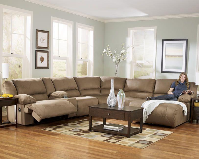 U Shape Microfiber Reclining Sectional Home Decor