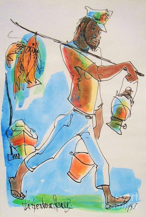 Ken Spencer was hands down Jamaica's most prolific fine artist. A self-taught painter, he chose to return to Jamaica and ply his craft after having lived in the London art scene for a couple of years. His pieces of everyday Jamaican scenery adorn homes business and institutions across the island.