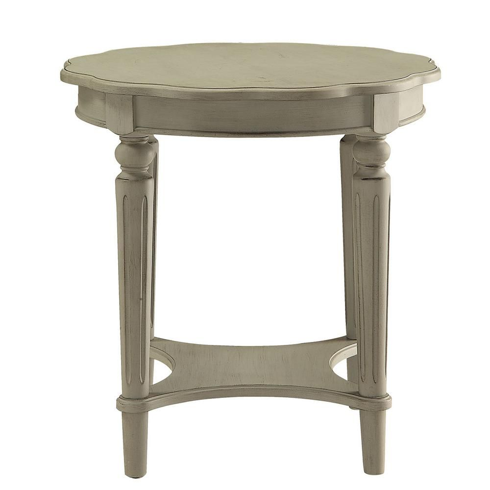 Acme furniture fordon antique slate end table in 2020