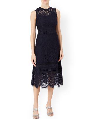 Sienna Lace Dress Navy Monsoon