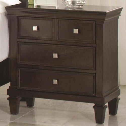 coaster camellia night stand with 3 drawers coaster fine furniture